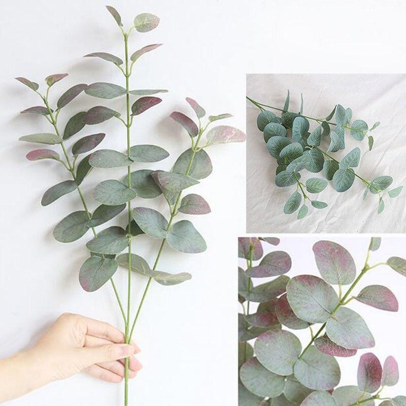 68cm Green Artificial Leaves Large Eucalyptus Foliage Wall Plant Decor