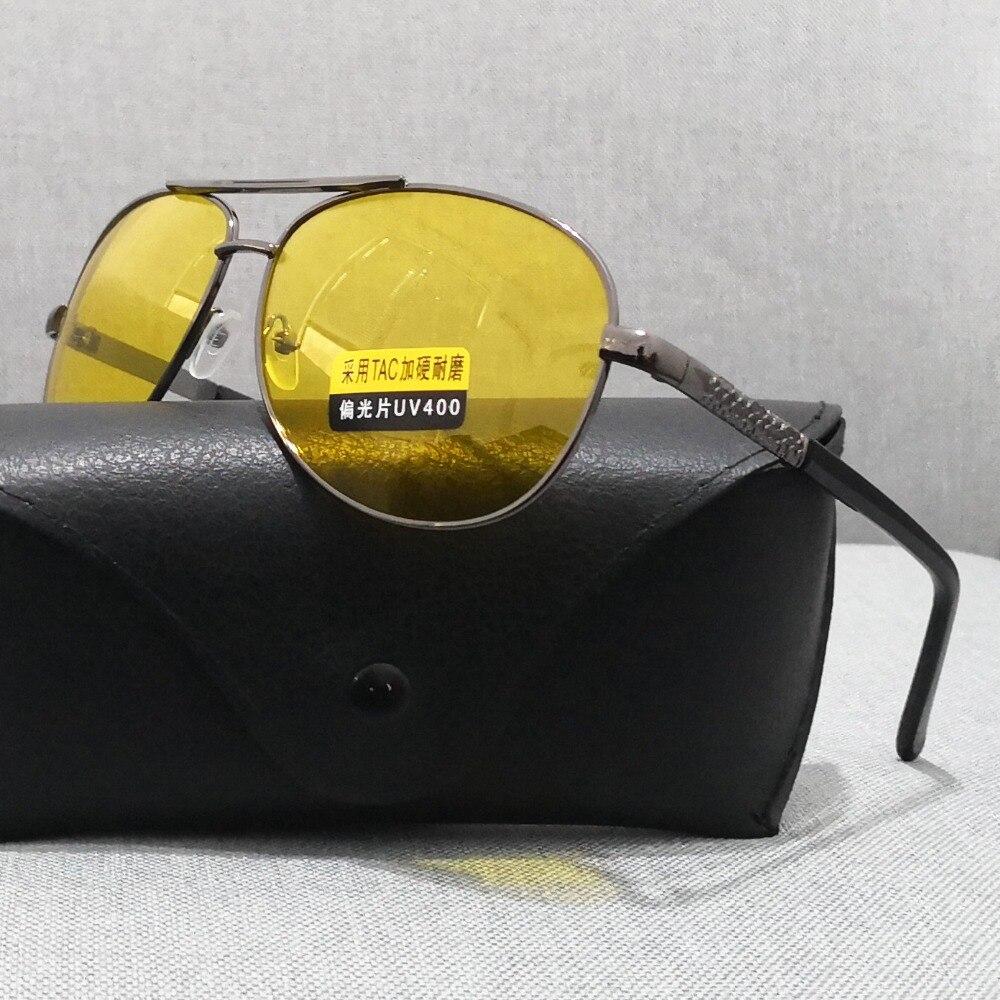 UVLAIK TAC Polarized Sunglasses Men Women Night Vision Driving Glasses Goggles Driver Yellow Sun Glasses UV400