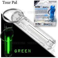 Nite Tritium Glowring Keychain Key Fob Night Automatic Light Self Luminous Fluorescent Tub Tritium