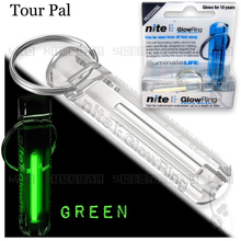 TOUR PAL Crystal Clear Nite Tritium Glowring Keychain Key Fob Night Automatic Light Self Luminous Fluorescent Tub Tritium