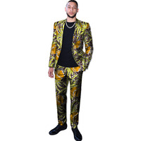 New arrivals African pant suits for men Ankara print suits man blazer+pant 2 pieces set custom wedding/party dashiki outfits
