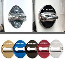 Автомобильный Стайлинг дверной замок Чехлы для Toyota Corolla D Sport защитные и декоративные автомобильные аксессуары наклейка