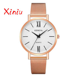 2d2b0146ca8 xiniu 2018 Stainless Steel Ladies Watch Relogio Feminino