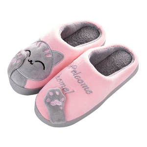 SAGACE Home Slippers Floor-Shoes House Couples Bedroom Warm Soft Winter Lovers Cartoon