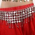 Gold Silver Vintage Women Belt Coin Charm Waist Chain Clasp Front Stretch Metal Belt Skinny Elastic Ceinture Cinturones Mujer