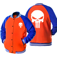 2017 Autumn New Arrival Super Hero Male Jacket The Punisher Skull Printed Jacket Men Coat Cool