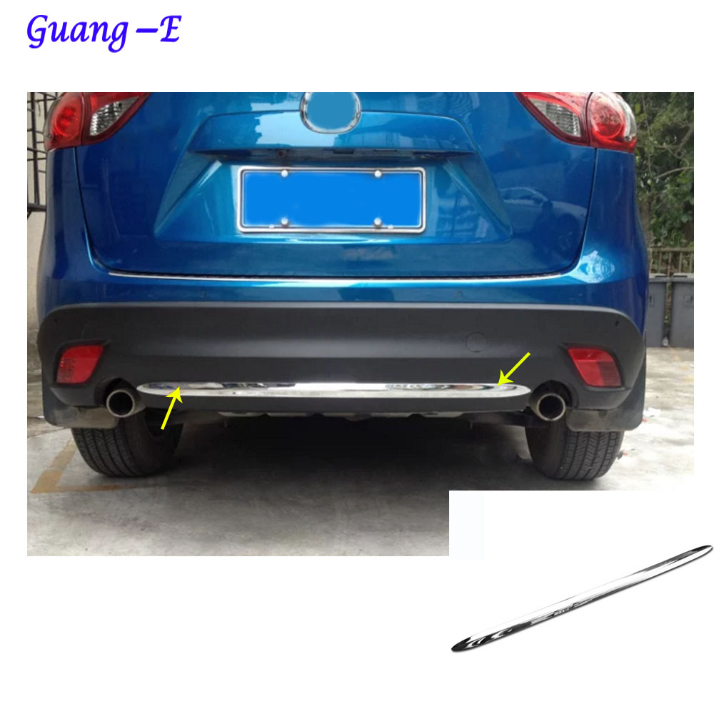 Car body cover protection bumper ABS chrome trim rear back tail bottom hoods panel 1pcs For Mazda CX-5 CX5 2013 2014 2015 2016 for toyota corolla altis 2014 2015 2016 car body styling cover detector abs chrome trim front up grid grill grille hoods 1pcs