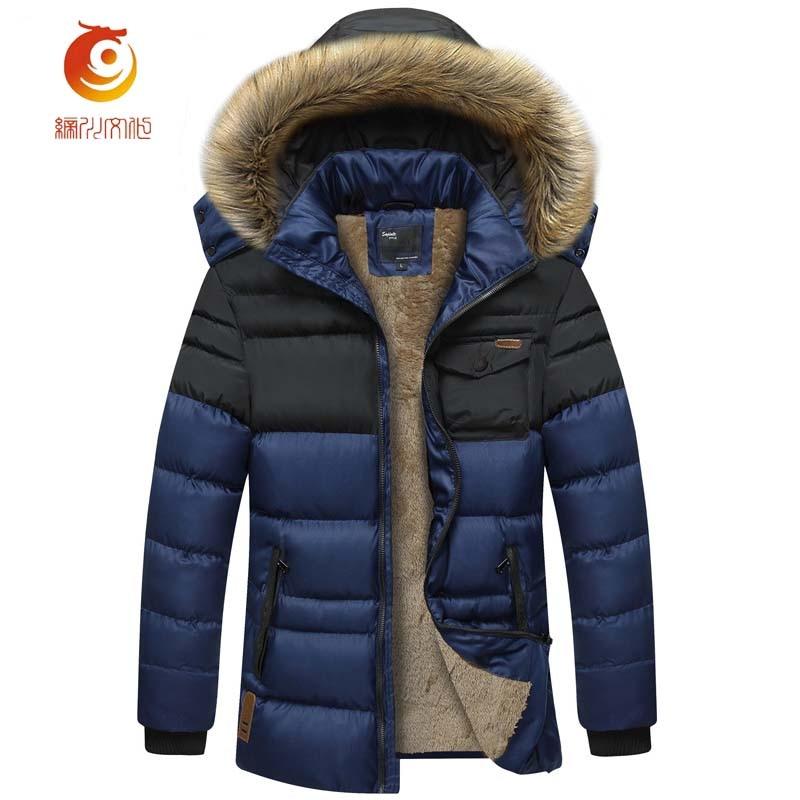 Parkas Capuchon Mode Manteaux Manteau Coton Casual Noir Épais Veste Plus Chaud Doublure À 4xl Taille Cachemire Hommes D'hiver 06xR7qfw