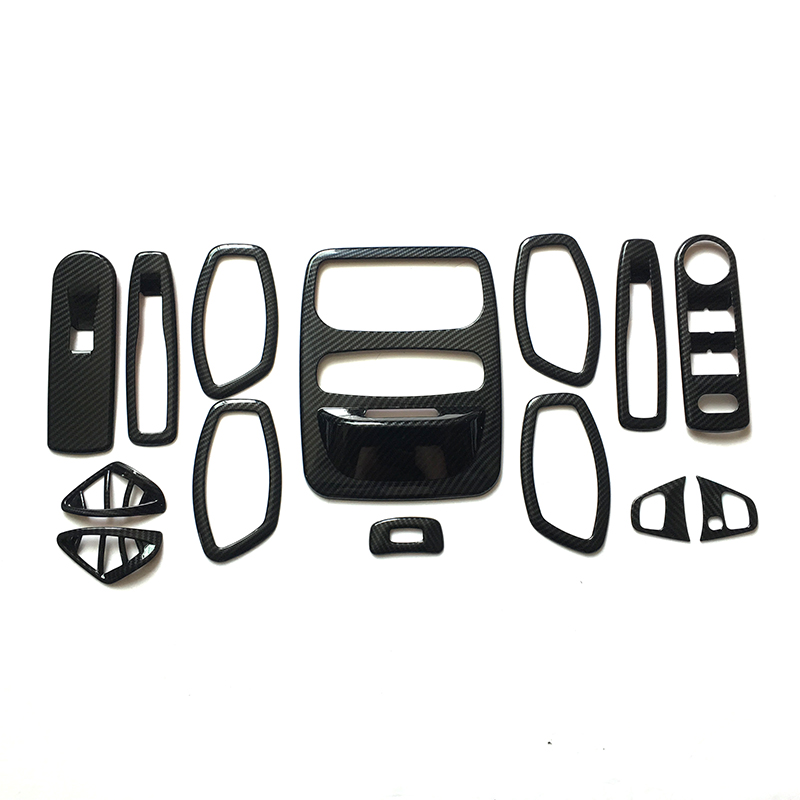 14 PCS ABS Switch handle bowl vent outlet air condition armrest lift glass read seat steering wheel For Renault Captur 2013-2016