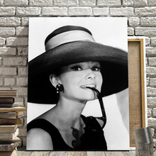 Black White Audrey Hepburn Wall Art Canvas Painting Nordic Posters And Prints Pictures For Living Room Decor