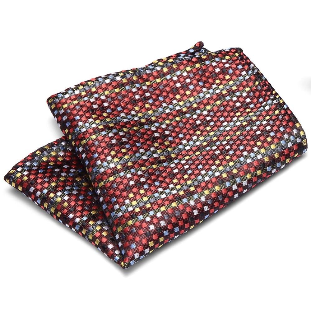 100% Silk Pocket Square Men's Handkerchief Polka Dots Chest Towel Hanky Wedding Banquet Christmas Gift 50 Colors For Choose