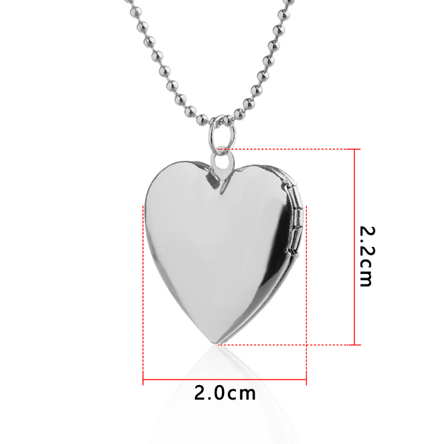 Heart Shaped Photo Locket Necklace