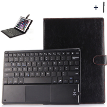 """9"""" 10 inch Common  Bluetooth Keyboard Case For ASUS Lenovo Huawei Pill Flip Wi-fi Keyboard Leather-based Stand Cowl+Pen"""