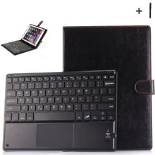 9'' 10 inch Universal Bluetooth Keyboard Case For ASUS Lenovo Huawei Tablet Flip Wireless Keyboard Leather Stand Cover+Pen(China)