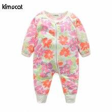 Новое поступление 2017 детская одежда kimocat хлопковый комбинезон