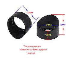 2 pcs Eye guards Eye shields eye protection for Microscope /Telescope eyepiece lens 33mm unfoldable rubber eyeguards