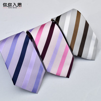 2017 Time-limited Korean Version Of The Striped Suits Men Married Bride And Groom Business Tie 7cm Spot Wholesale 1200 Needle