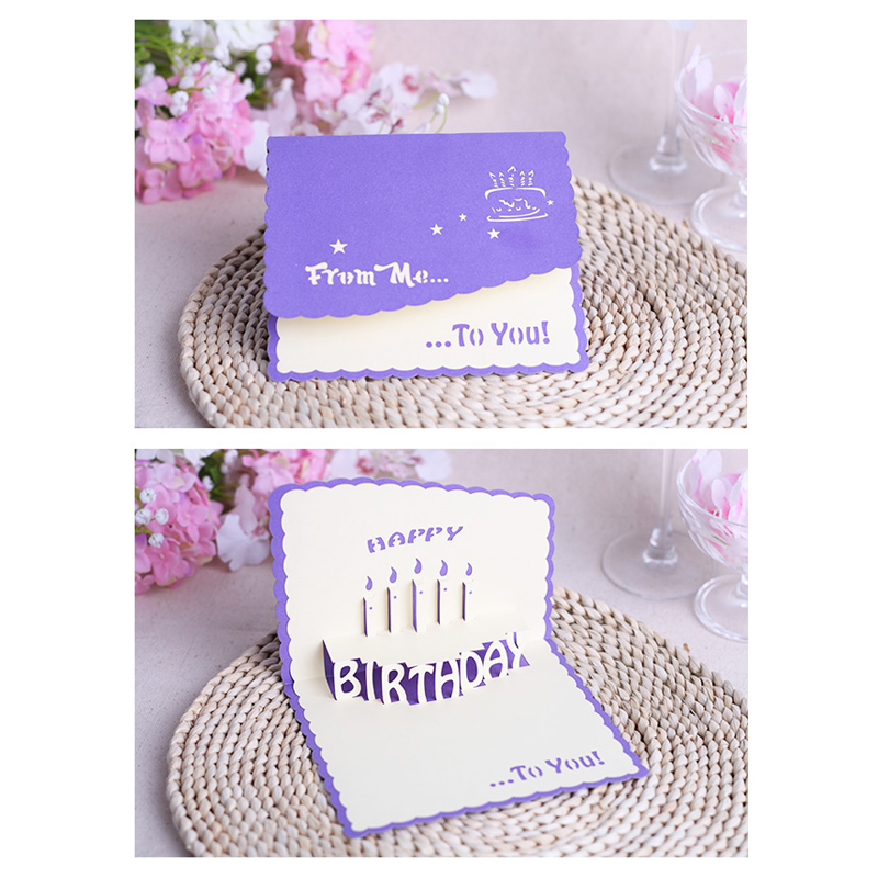 New 2015 Creative Birthday Cake Postcard Male And Female Close Friend Blessing Gift 3D POP Card Greeting On Aliexpress