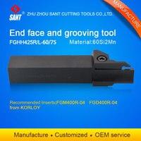 Herramienta de torneado herramienta de ranurado soporte FGHH425R-60/75 con Korloy de FGM400R-04 FGD400R-04 de Kyocera Venta caliente en el extranjero
