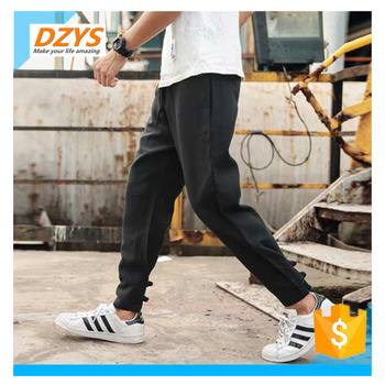 DZYS-JF autumn new Chinese style cotton linen men's linen feet pants linen loose large size casual pants