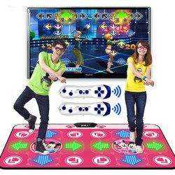مضيئة أفرلورد اليوغا الرقص حصيرة مزدوجة التلفزيون واجهة الكمبيوتر لعبة المنزل التخسيس