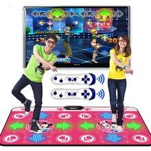 جديد مضيئة اليوغا الرقص حصيرة مزدوجة اللاعبين التلفزيون واجهة الكمبيوتر المنزل لعبة التخسيس راقصة بطانية حصيرة وسادة مع اثنين غمبد