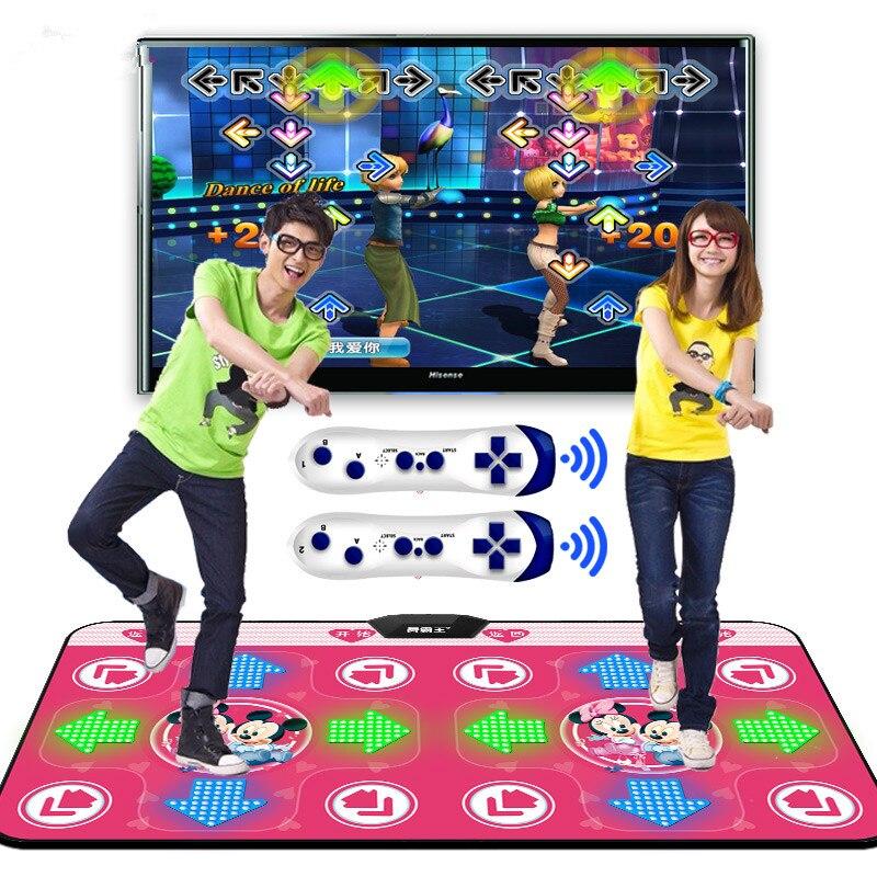Luminous overlord yoga tapete de dança duplo computador tv interface do jogo em casa emagrecimento