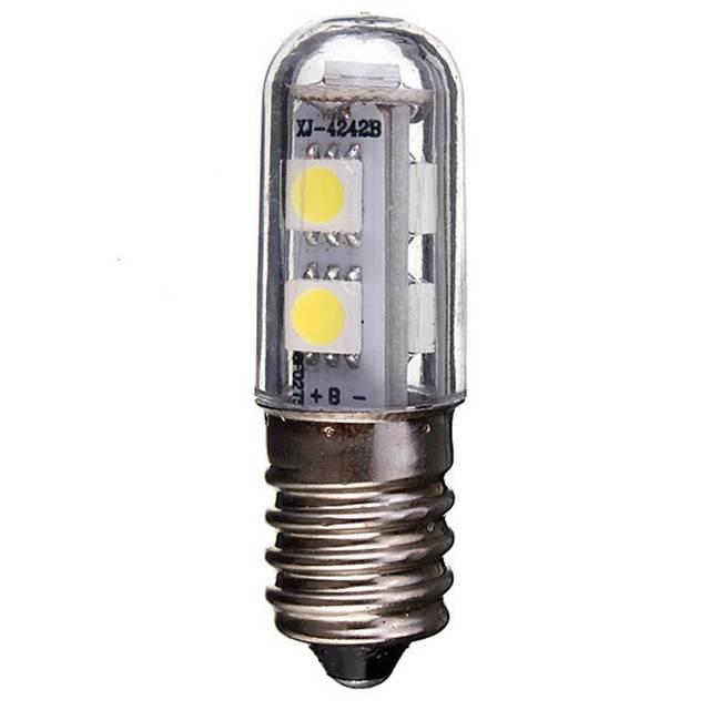 E14 スクリューベース Led 冷蔵庫ランプ電球 1 ワット 220V AC 7 Led SMD 5050 アンプル Led ライト冷蔵庫ホワイトホーム 1pc