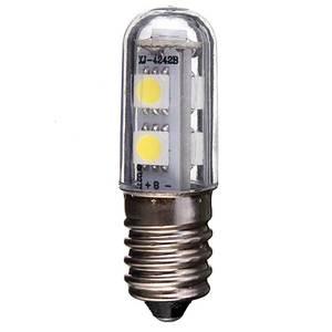 Image 1 - E14 Screw Base LED Refrigerator Lamp Bulb 1W 220V AC 7 Leds SMD 5050 Ampoule LED Light For Fridge White Warm White for Home 1pc