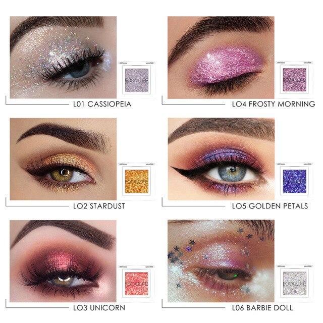 FOCALLURE Professional single Eyeshadow Glitter powder Colorful pigments waterproof women beauty shiny eye shadow eyes 2