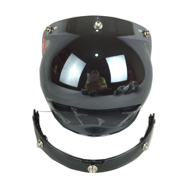 171a1104a45b7 Visera de casco de motocicleta lente Vintage General 3 botones burbuja  visores espejo casco visores escudo motocicleta casco visor en Gafas de  Coches y ...