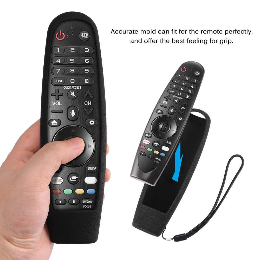 Casos de controle remoto mágico inteligente oled tv capa protetora silicone à prova de choque lavável para lg AN-MR600 AN-MR650