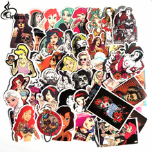 50Pcs sexy tattoo beauty Pvc Waterproof Stickers For Laptop Cartoon graffiti Luggage Guitar Decal Funny Toy Sticker Home Decor