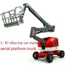 Супер крутой! 1: 87 игрушечная горка из сплава модели строительных автомобилей автоподъемник с люлькой, детские развивающие игрушки
