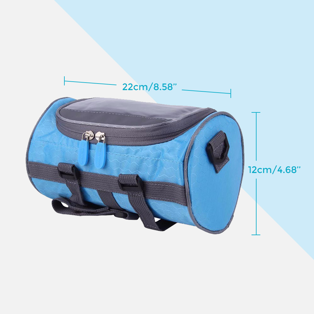 Cycling Bags Bike Bicycle Riding Handlebar Bag Front Bag Black With Rain Cover