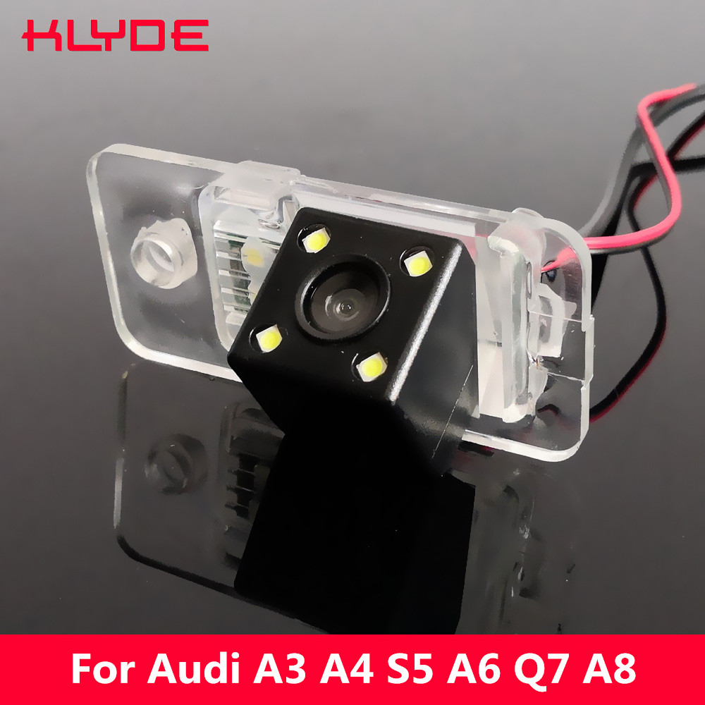 Backup Parking <font><b>Camera</b></font> 170Degree CCD Special Car Rear View Reverse For <font><b>Audi</b></font> A3 S3 8P A4 S4 RS4 B7 <font><b>A6</b></font> C6 S6 RS6 4F Q7 SQ7 4L image