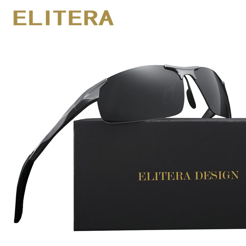 ELITERA Aluminium Brand New Polarized Solglasögon Män Mode Solglasögon Travel Driving Man Eyewear Oculos Gafas De So E8177