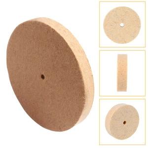 Image 3 - Slijpen Polijsten Buffing Ronde Wiel Pad Wolvilt + 1 Staaf 3.2Mm Schacht Metalen Oppervlak Voor Dremel Rotary Gereedschap accessoires