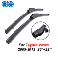 26''+22'' Pair Windshield Wiper Blades For Toyota Venza 2009 2010 2011 2012 2013 Rubber Window Windscreen Car Accessories