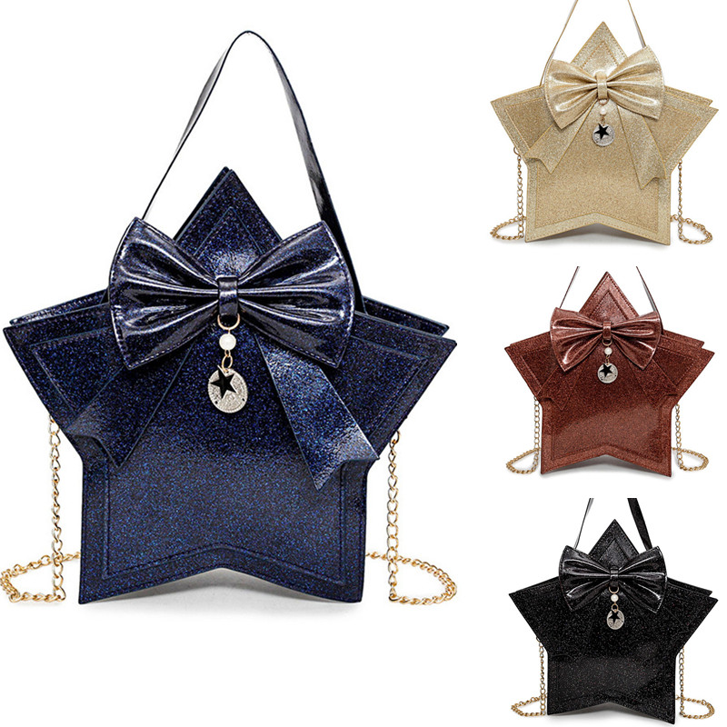 Sweet Lolita Star Shaped Mini Tote Purse Crossbody Handbag Messenger Shouder Bag ...