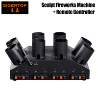 Freeshipping TP T13 Sculpt Fireworks Machine with Remote Controller 110V/220V/AA Battery Working Support 8 Control Channels