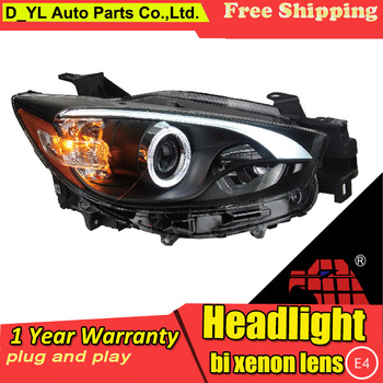 Car Styling For Mazda CX-5 headlights 2013-2015 CX-5 led headlight Head Lamp led drl projector headlight H7 hid Bi-Xenon Lens