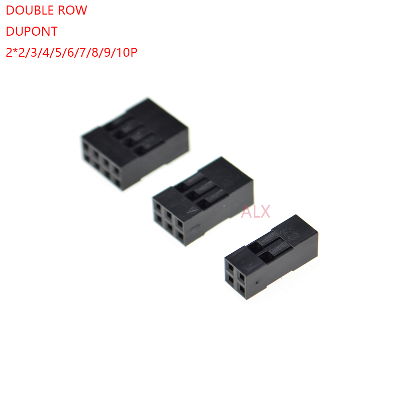 Lighting Accessories 20pcs Double Row Dupont Header Connector 2.54mm Pitch Male Female Jumper Cable Wire Plug Housing 2*2/3/4/5/6/7/8/9/10 Pin