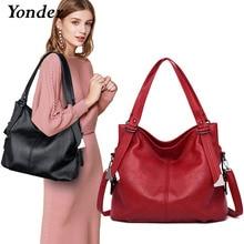 Yonder 브랜드 패션 여성 가방 어깨 가방 여성 정품 가죽 핸드백 숙녀 핸드 가방 고품질 대형 토트 백 메인