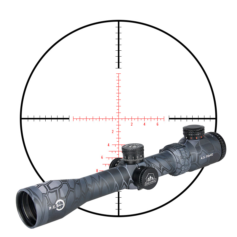 Tactical TM4.5-18x40 Rifle Scope 30mm Tube Diameter For Outdoor Shooting PP1-0287 canislatrans military two style tactical tm4 5 18x40 4 5x 18x magnification rifle scope for hunting cl1 0287