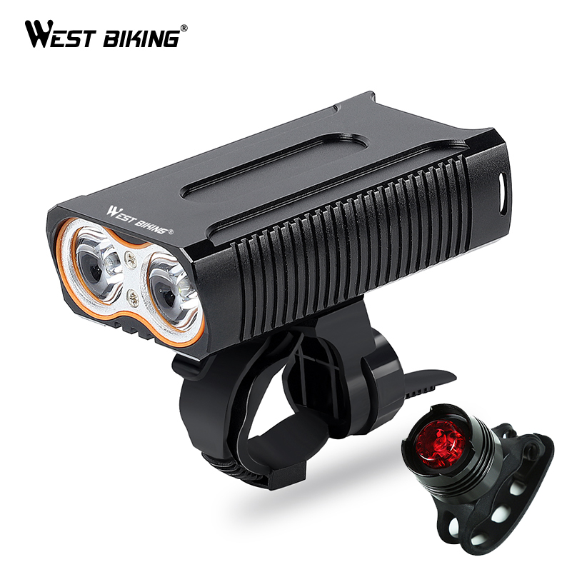 Road Bike Bicycle USB Rechargeable LED Headlight Tail Lights Set Front and Back