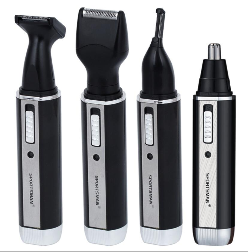 4 in 1 man grooming kit electric nose hair trimmer beard shaver eyebrow clipper all in one sideburns hairtrimmer cutter 220v