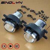 SINOLYN Waterproof OEM HID Bixenon Foglights Projector Lens Bifocal Driving Lamps Retrofit For Corolla Camry RAV4