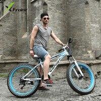 Original X Front Brand Snowmobile 7 21 24 27 Speed 26 4 Fat Tire MTB Mountain