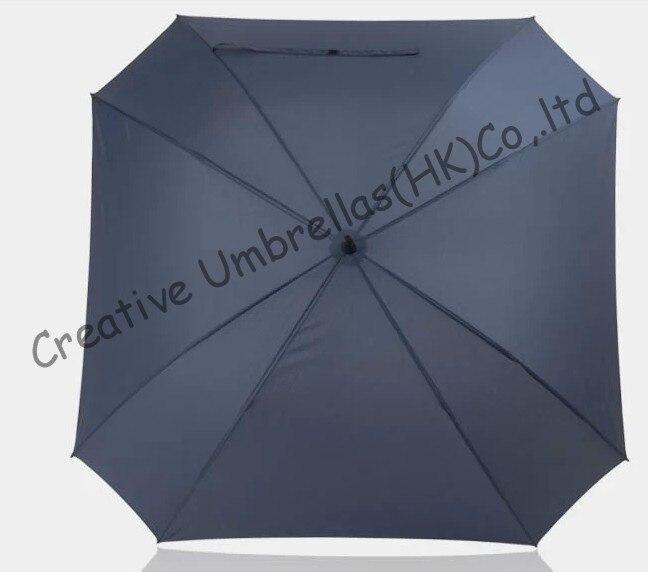 Forme carrée, 130 cm diamètre parapluie de golf, universel spécial shape.14mm en fiber de verre arbre et 3.5mm en fiber de verre côtes, auto ouvert